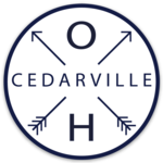 """Magnet Cedarville OH with Arrows Circle 3"""" x 3"""" Sticker Mule"""