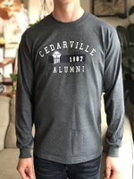 Alumni Long Sleeved Tee in Graphite