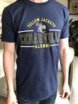Alumni Short Sleeved Tee in Navy